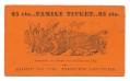 COLONEL FRANCIS PIERCE LECTURE TICKET
