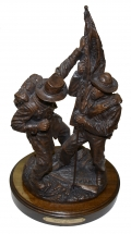 """DEFENDING THE COLORS"" SCULPTURE BY RON TUNISON"