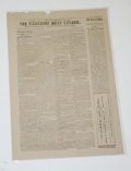 1885 REPRINT OF VICKSBURG NEWSPAPER ON WALLPAPER