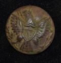 US ENLISTEDMAN'S GENERAL SERVICE EAGLE JACKET BUTTON RECOVERED AT DEVIL'S DEN AT GETTYSBURG