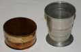 MID 19TH CENTURY COLLAPSIBLE DRINKING CUP WITH CASE