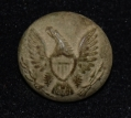 US ENLISTEDMAN'S GENERAL SERVICE EAGLE JACKET BUTTON RECOVERED ON OAK RIDGE AT GETTYSBURG