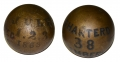 PAIR OF US/CS 4.52 SPHERICAL SHELLS FROM GETTYSBURG GAR POST #9