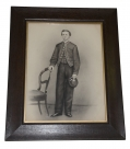 WONDERFUL FRAMED PENCIL SKETCH OF 15TH PENNSYLVANIA CAVALRY TROOPER