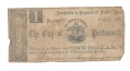 THE CITY OF PORTSMOUTH, VA $1 NOTE FROM THE COLLECTION OF LEE'S HEADQUARTERS MUSEUM, GETTYSBURG