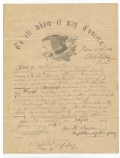 U.S. ARMY DISCHARGE DOCUMENT, 20TH PENNSYLVANIA CAVALRY, DATED 1864 & FAMILY BIBLE PAGE