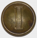 "CONFEDERATE ""I"" INFANTRY BUTTON, VEST SIZE"