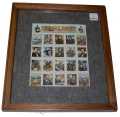 DOUBLE SIDED FRAMED DISPLAY OF 20 CIVIL WAR COMMEMORATIVE STAMPS