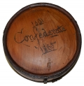 CS WOOD DRUM CANTEEN WITH CARVING