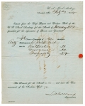 1854 US NAVAL ACADEMY DOCUMENT SIGNED BY LOUIS M. GOLDSBOROUGH, SUPERINTENDENT; SERVED AS REAR ADMIRAL DURING CIVIL WAR