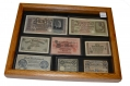 FRAMED LOT OF WORLD WAR ONE & TWO GERMAN MARKS