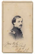 CDV OF CAPTAIN AUGUSTUS CHOUTEAU PAUL, A.A.G., UNION ARMY 2ND CORPS