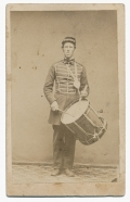 FINE FULL STANDING CDV OF A NEW YORK DRUMMER