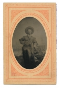 WONDERFUL POST WAR TINTYPE OF COLORADO COWBOY