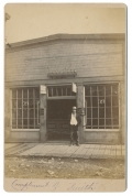 CABINET CARD OF WESTERN UNION OFFICE OUT WEST