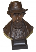 NATHAN BEDFORD FORREST BUST BY RON TUNISON