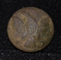 US ENLISTEDMAN'S GENERAL SERVICE EAGLE JACKET BUTTON RECOVERED AT MEADE'S HEADQUARTERS AT GETTYSBURG