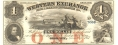 THE WESTERN EXCHANGE FIRE & MARINE INSURANCE, OMAHA, NEBRASKA, $1 NOTE