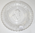 GLASS MEMORIAL PLATE FOR PRESIDENT JAMES A. GARFIELD