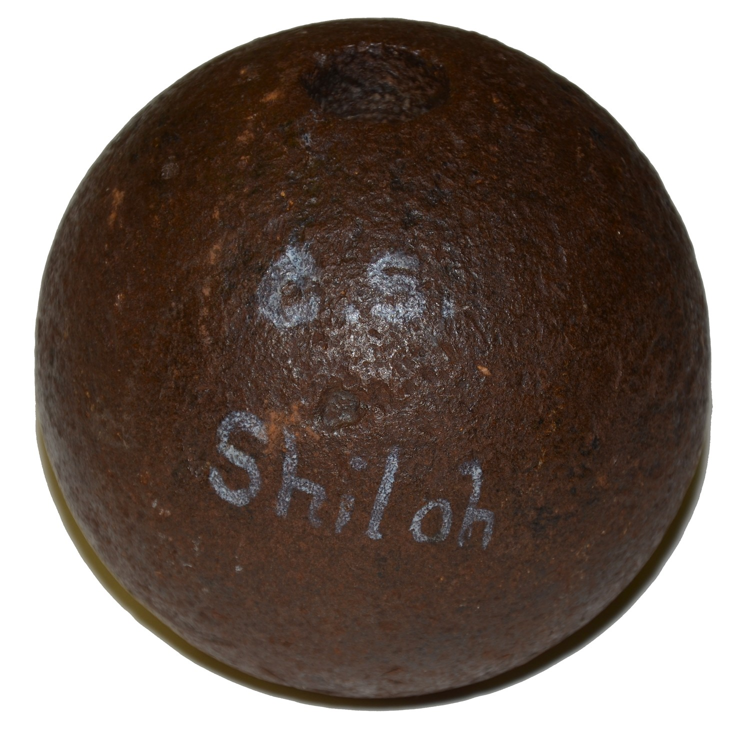 CS 4.52 INCH 12 POUND SPHERICAL SHELL, RECOVERED AT SHILOH