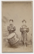 FULL STANDING CDV OF TWO LITTLE SOLDIERS