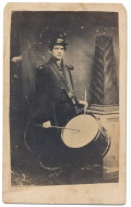 CIVIL WAR DRUMMER IMAGE - PERIOD CDV COPY OF A TINTYPE