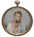 19TH CENTURY MINIATURE PORTRAIT ON IVORY OF PRUSSIAN OFFICER
