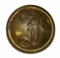 CONFEDERATE INFANTRY SCRIPT 'I' COAT BUTTON