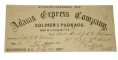 ADAMS EXPRESS ENVELOPE FROM MEMBER OF 2ND NEW YORK MOUNTED RIFLES