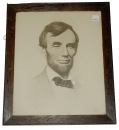 FRAMED 1897 LITHOGRAPH OF LINCOLN SKETCH BY JOSEPH DECAMP