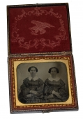 SIXTH PLATE AMBROTYPE OF TWO LADIES