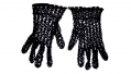 LADIES' BLACK CROCHETED GLOVES