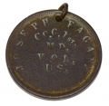 DUG ID TAG FOR JOSEPH FAGAN OF THE 1ST MARYLAND INFANTRY US