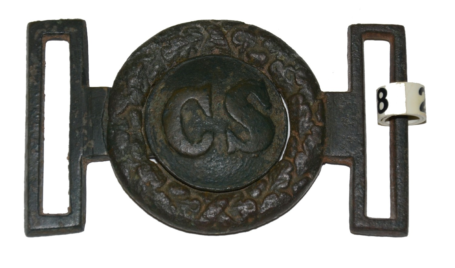 RELIC CONFEDERATE TWO PIECE SWORD BELT PLATE RECOVERED AT HAYMARKET, VA