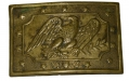 SHEET BRASS MILITIA BELT PLATE