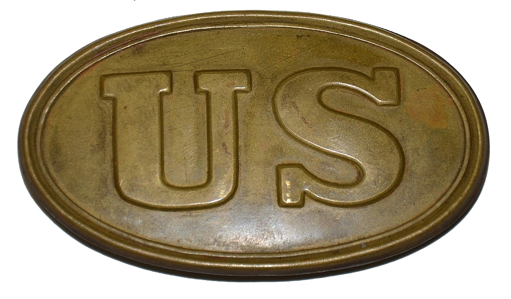 US SMALL PATTERN 1839 CARTRIDGE BELT PLATE