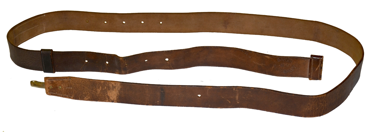CIVIL WAR MUSKET SLING ALTERED FOR TRAPDOOR RIFLE