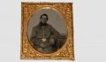 IDENTIFIED 1/6 PLATE TINTYPE OF UNION SOLDIER – LEVI M. BLACKLER, 1ST MASSACHUSETTS HEAVY ARTILLERY
