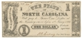 STATE OF NORTH CAROLINA ONE DOLLAR NOTE