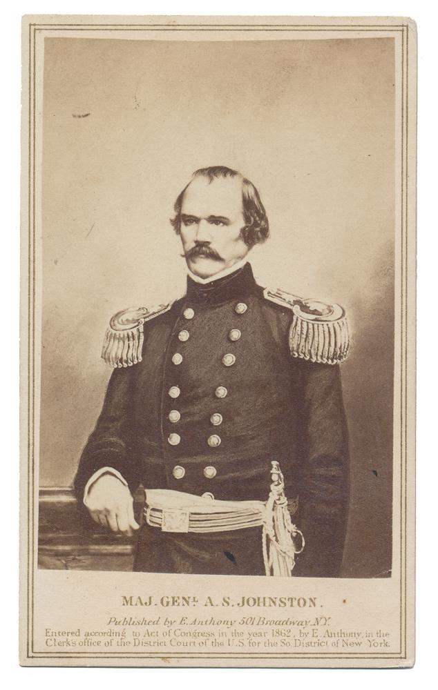 7d0499eb713 LITHOGRAPH CDV VIEW OF CONFEDERATE GENERAL ALBERT SIDNEY JOHNSTON ...