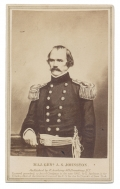 LITHOGRAPH CDV VIEW OF CONFEDERATE GENERAL ALBERT SIDNEY JOHNSTON