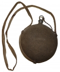 MAKER MARKED MODEL 1858 SMOOTHSIDE CANTEEN WITH COVER, STOPPER, AND STRAP