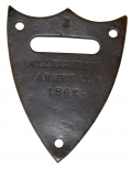 SADDLE SHIELD FROM ALLEGHENY ARSENAL