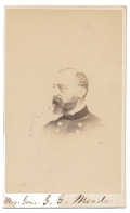 1862 DATED BUST VIEW CDV OF GENERAL GEORGE GORDON MEADE