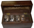 APOTHECARY CHEST WITH ORIGINAL BOTTLES, CIRCA 1840'S – 1850'S