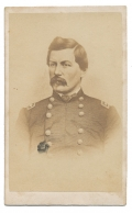 CDV LITHOGRAPH OF MAJOR GENERAL GEORGE B. MCCLELLAN