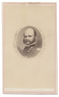 CDV LITHOGRAPH OF GENERAL AMBROSE BURNSIDE