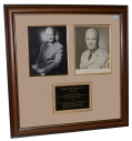 FRAMED EISENHOWER PHOTOS WITH SIGNATURE