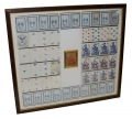 FRAMED COMPLETE DECK OF ORIGINAL CIVIL WAR PLAYING CARDS WITH BOX