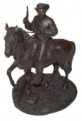 MOSBY ON HORSEBACK SCULPTURE BY RON TUNISON